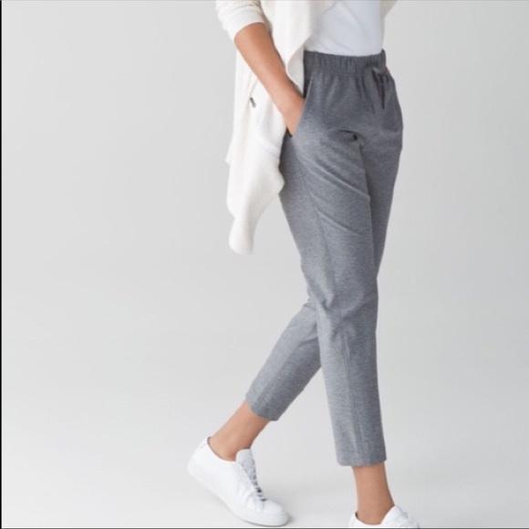 9cf21fd9f lululemon athletica Pants - Jet Crop Slim in heather grey